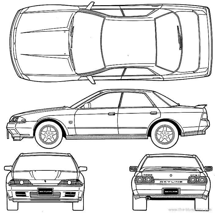 Blueprints > Cars > Nissan > Nissan Skyline GTS-T R32 Type