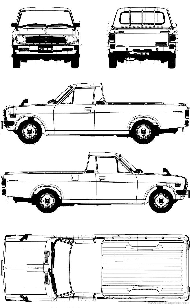 Blueprints > Cars > Nissan > Nissan Sunny 1200 GB121 Pick