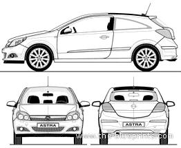 Blueprints > Cars > Opel > Opel Astra GTC (2010)