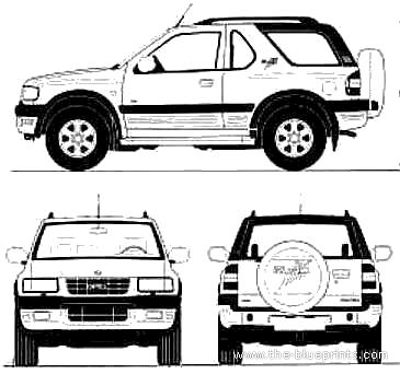 Blueprints > Cars > Opel > Opel Frontera 3-Door (1995)