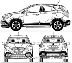 Blueprints > Cars > Opel > Opel Mokka (2012)