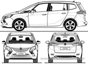 Blueprints > Cars > Opel > Opel Zafira Tourer (2011)