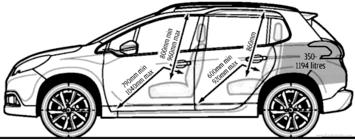 Dimension 2008 Peugeot. peugeot 2008 dimensions ext