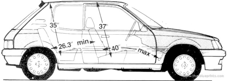 Blueprints > Cars > Peugeot > Peugeot 205 1.6 GTi (1986)
