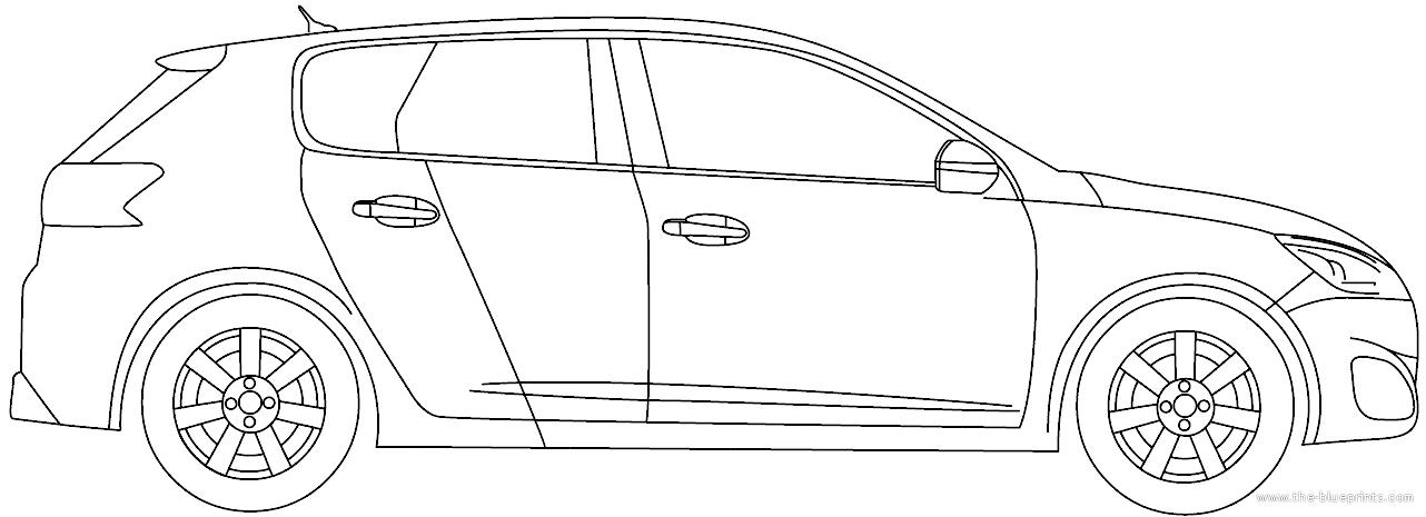 Blueprints > Cars > Peugeot > Peugeot 308 GTI (2016)
