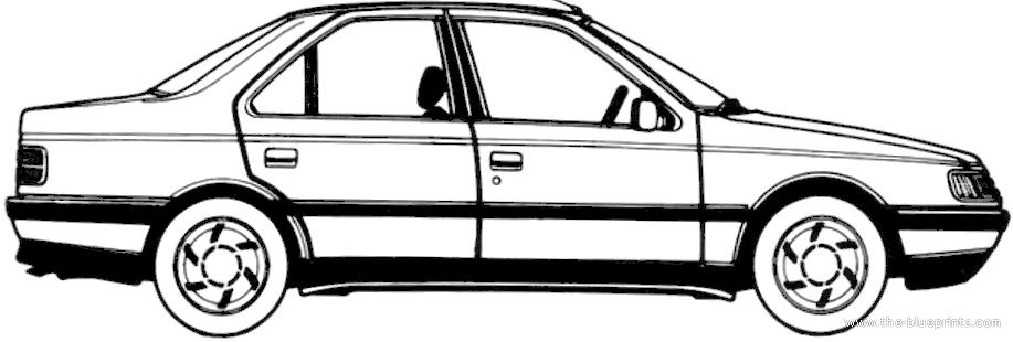 Blueprints > Cars > Peugeot > Peugeot 405 1.9 GTX (1988)