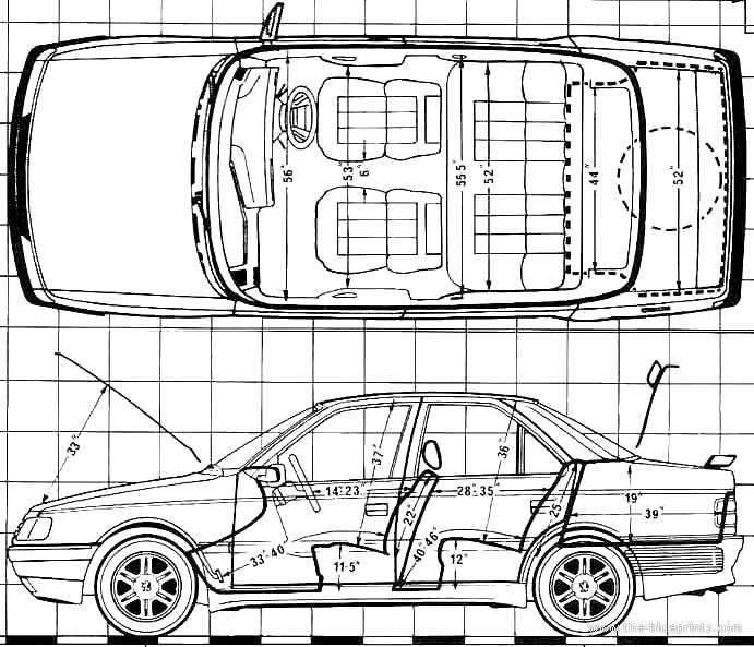 Blueprints > Cars > Peugeot > Peugeot 405 SRi (1988)