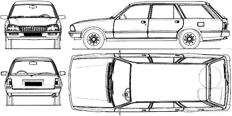 Blueprints > Cars > Peugeot > Peugeot 505 Break (1982)