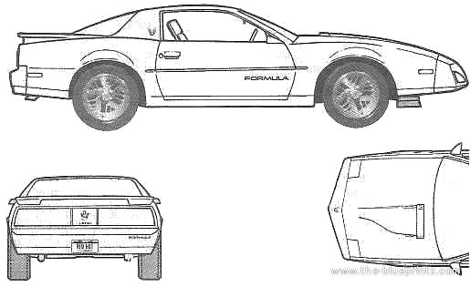 Blueprints > Cars > Pontiac > Pontiac Firebird Formula (1991)