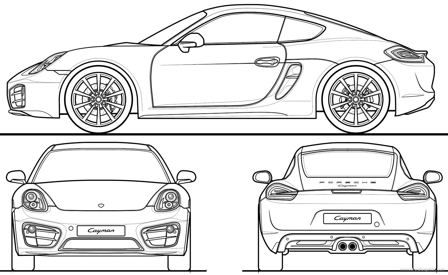 Blueprints > Cars > Porsche > Porsche Cayman (2013)