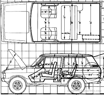 Blueprints > Cars > Range Rover > Range Rover 3500 V8 (1975)