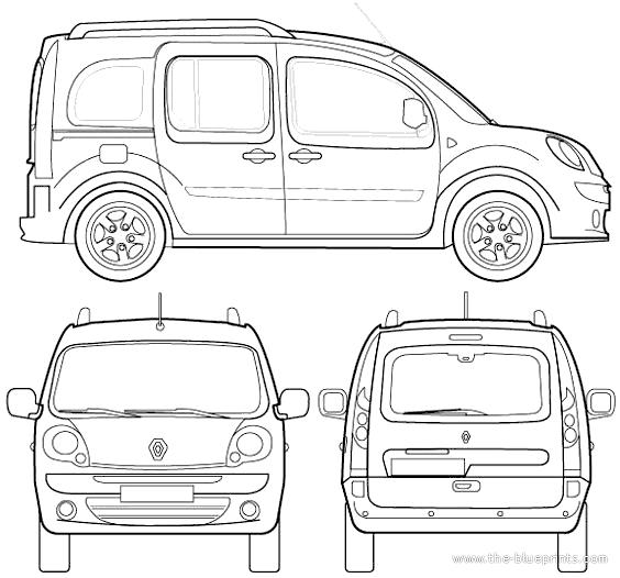 Blueprints > Cars > Renault > Renault Kangoo (2009)