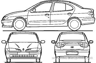 Blueprints > Cars > Renault > Renault Megane Classic (1998)