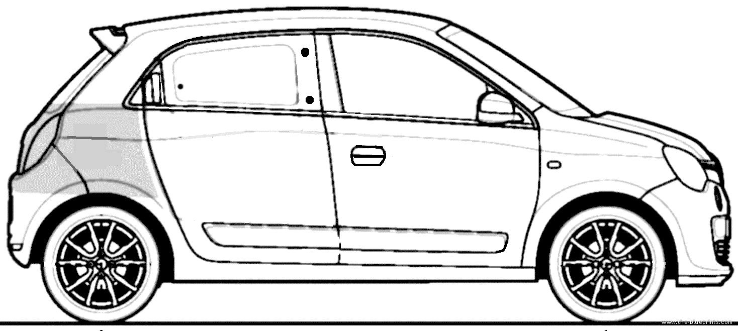 Blueprints > Cars > Renault > Renault Twingo III (2014)