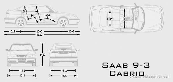 Blueprints > Cars > Saab > Saab 9-3 Cabrio