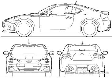 Blueprints > Cars > Subaru > Subaru BRZ (2012)