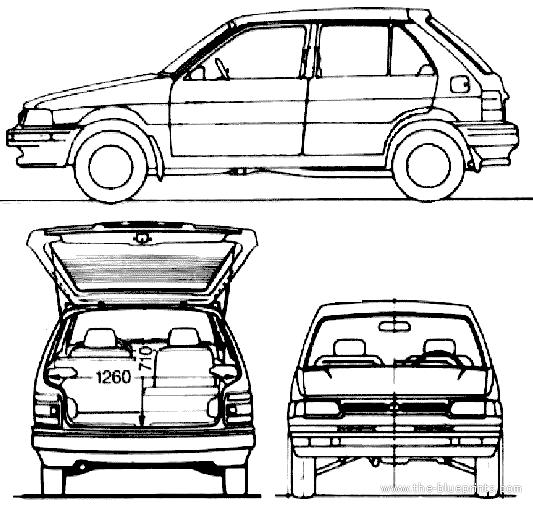 Service manual [1991 Subaru Justy Blend Door Removal