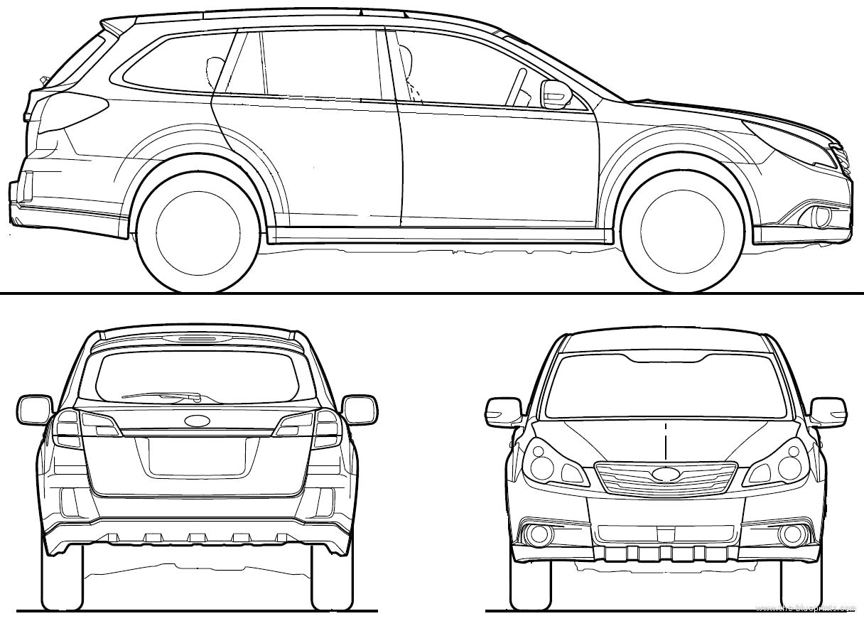 Blueprints > Cars > Subaru > Subaru Legacy Outback (2010)