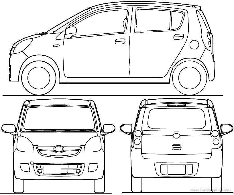 Blueprints > Cars > Subaru > Subaru Pleo Limited L 5-Door