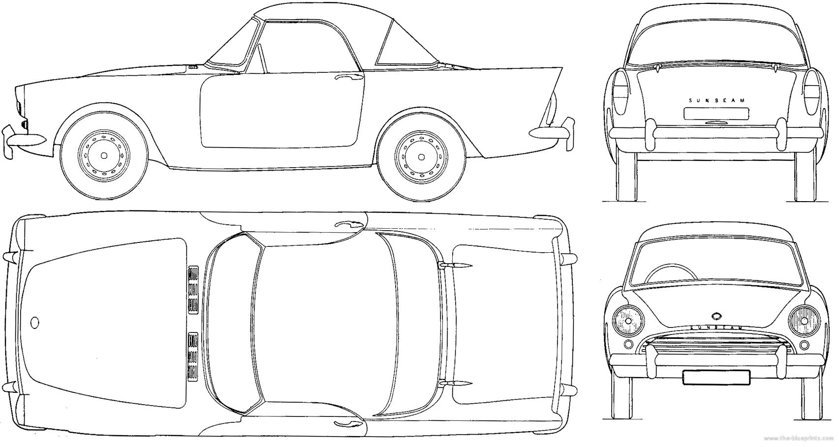 Blueprints > Cars > Sunbeam > Sunbeam Alpine Mk.II (1961)