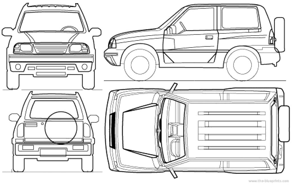 Blueprints > Cars > Suzuki > Suzuki Grand Vitara 3-Door (2012)