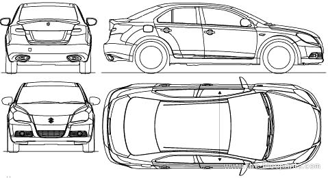 Blueprints > Cars > Suzuki > Suzuki Kizashi (2010)