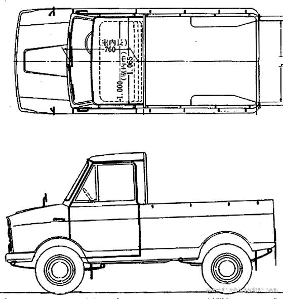 Blueprints > Cars > Suzuki > Suzuki Suzulight Carry FA 360