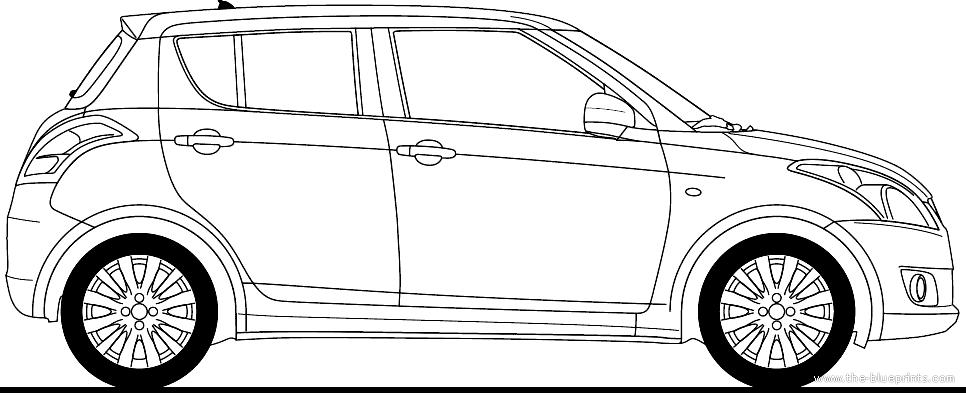 Blueprints > Cars > Suzuki > Suzuki Swift 5-Door (2010)