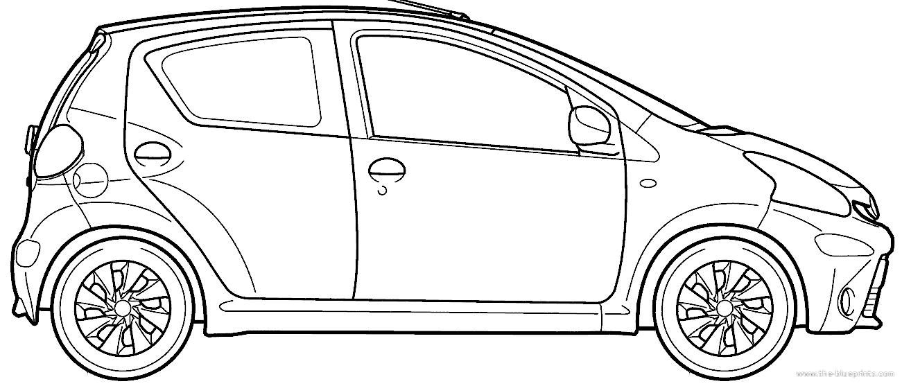 Blueprints > Cars > Toyota > Toyota Aygo 5-Door (2012)
