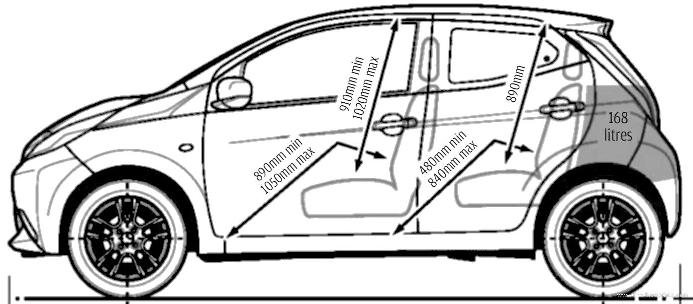 Blueprints > Cars > Toyota > Toyota Aygo 5-Door (2014)