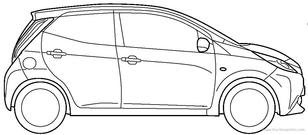 Blueprints > Cars > Toyota > Toyota Aygo 5-Door (2015)