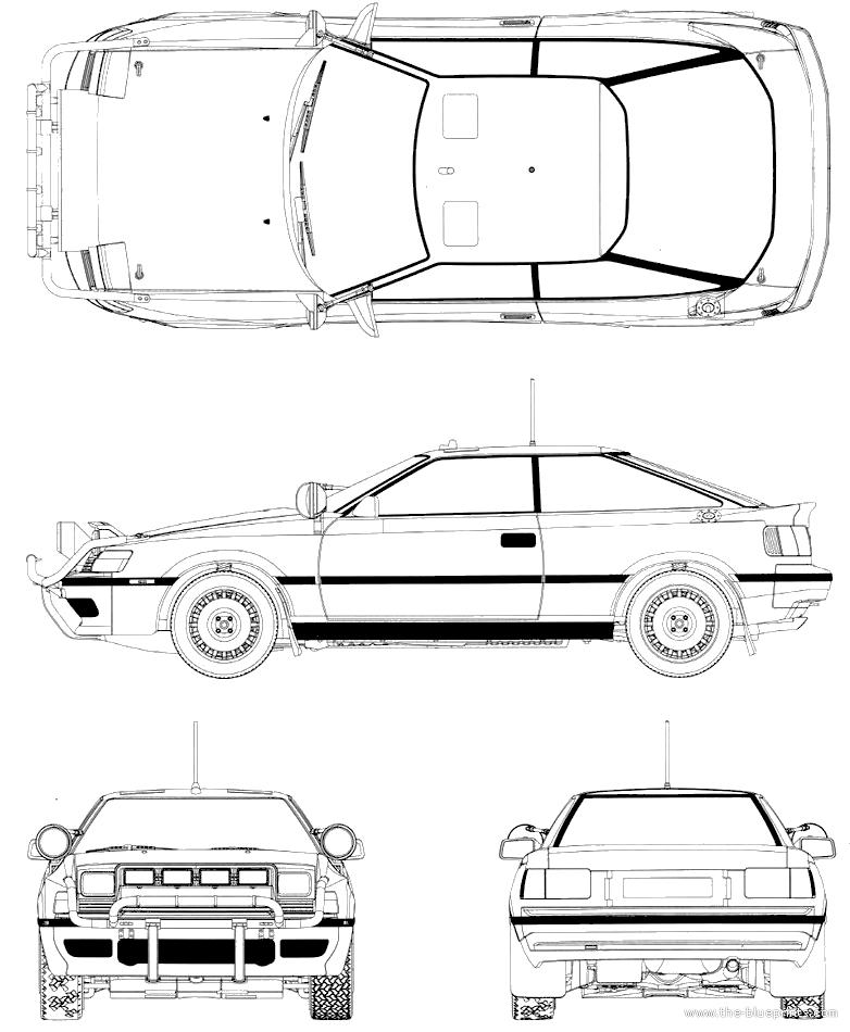 Blueprints > Cars > Toyota > Toyota Celica GT-Four (1990)