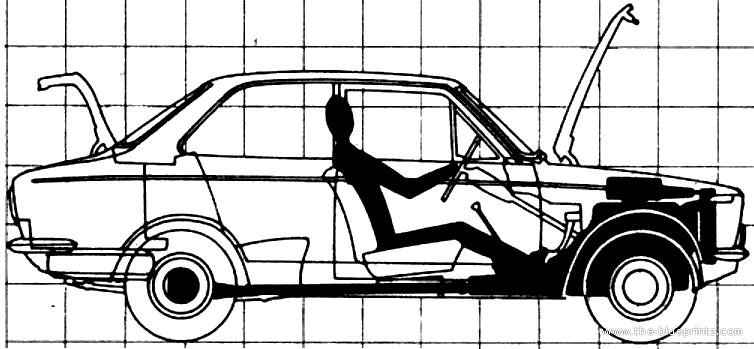 Blueprints > Cars > Toyota > Toyota Corolla Deluxe (1968)