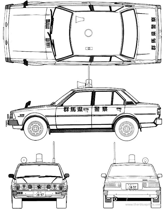 Blueprints > Cars > Toyota > Toyota Corolla DX E70 (1980)