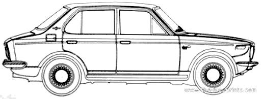 Blueprints > Cars > Toyota > Toyota Corolla E10 4-Door (1966)