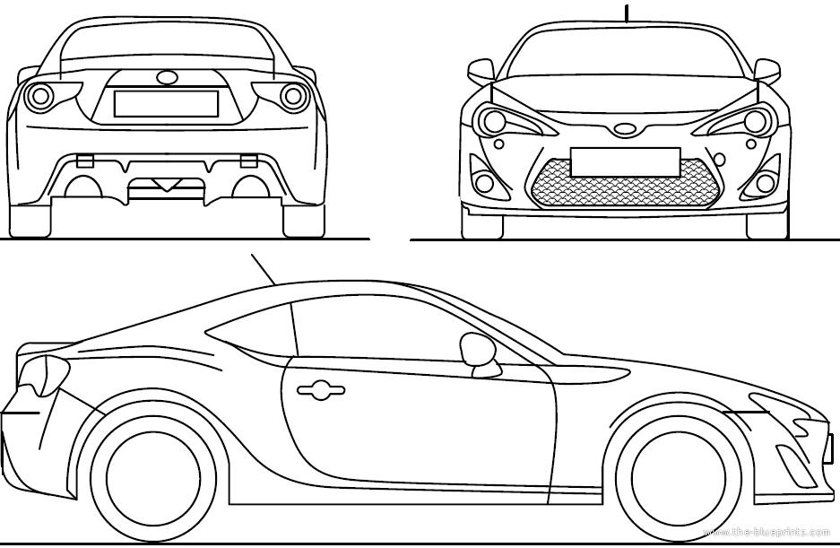 Blueprints > Cars > Toyota > Toyota GT 86 (2013)