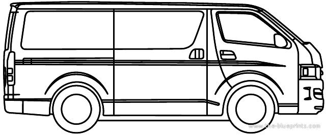 Toyota hiace vector