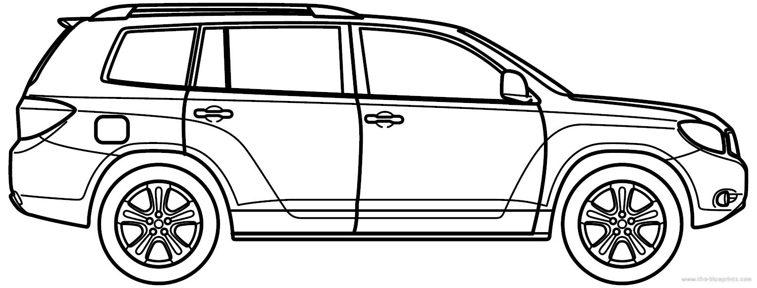 Blueprints > Cars > Toyota > Toyota Highlander (2010)