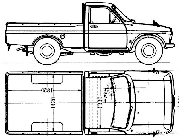 Blueprints > Cars > Toyota > Toyota Hilux (1968)