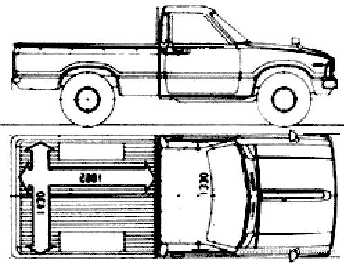 Blueprints > Cars > Toyota > Toyota Hilux (1984)