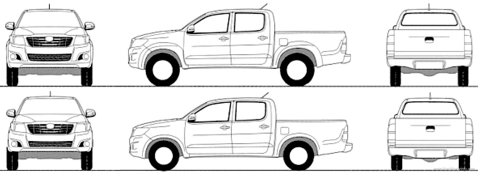 Blueprints > Cars > Toyota > Toyota Hilux (2015)