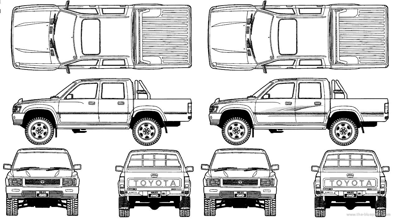Blueprints > Cars > Toyota > Toyota Hilux Pickup Double