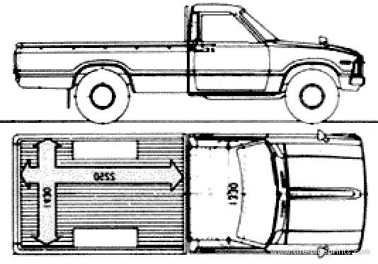 Blueprints > Cars > Toyota > Toyota Hilux SC (1984)