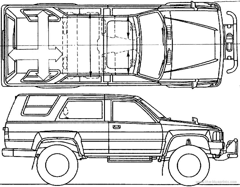 Blueprints > Cars > Toyota > Toyota Hilux Surf (1984)