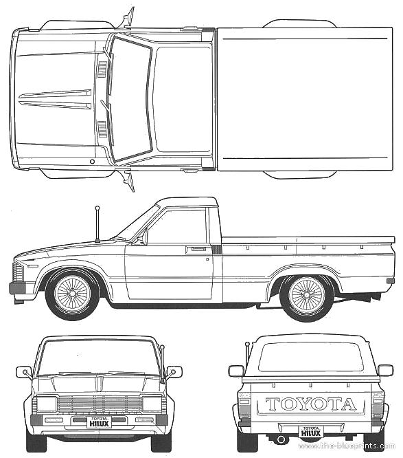 Blueprints > Cars > Toyota > Toyota Hilux