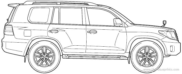 Blueprints > Cars > Toyota > Toyota Land Cruiser 200 V8 (2012)