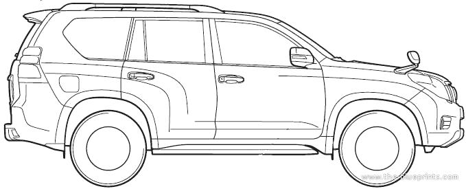 Blueprints > Cars > Toyota > Toyota Land Cruiser Prado (2012)