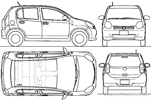 Blueprints > Cars > Toyota > Toyota Passo (2010)