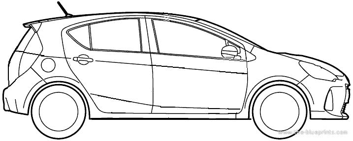 Blueprints > Cars > Toyota > Toyota Prius Aqua (2012)