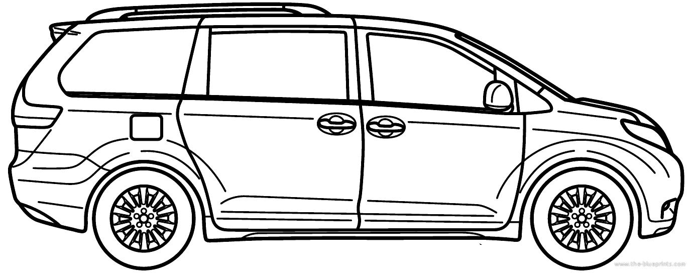 Blueprints > Cars > Toyota > Toyota Sienna 2014 (2014)